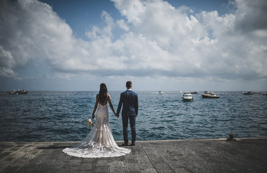 Anita and Martyn's wedding day wishes became a reality at the Hotel Marincanto Positano