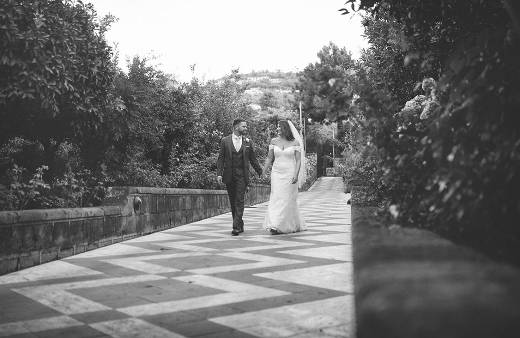 romantic Sorrento wedding.